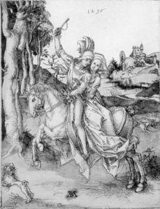 Couple on Horseback
