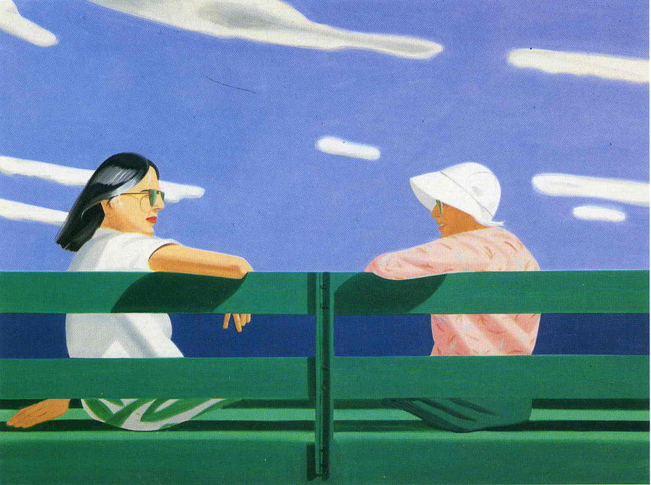 Wikioo.org - The Encyclopedia of Fine Arts - Painting, Artwork by Alex Katz - Ada and Luisa