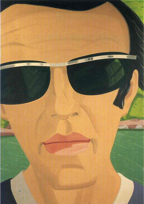 Wikioo.org - The Encyclopedia of Fine Arts - Painting, Artwork by Alex Katz - Alex Katz. Self-Portrait with Sunglasses