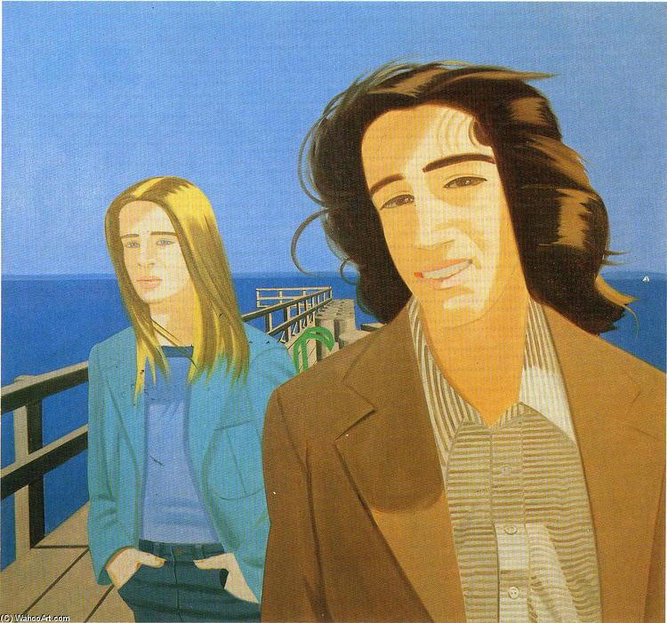 Wikioo.org - The Encyclopedia of Fine Arts - Painting, Artwork by Alex Katz - Islesboro Ferryslip