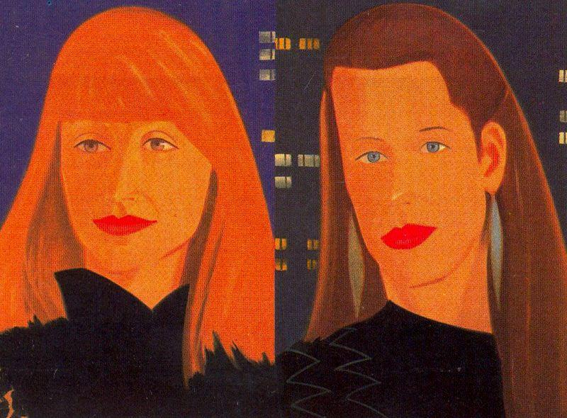 Wikioo.org - The Encyclopedia of Fine Arts - Painting, Artwork by Alex Katz - Pamela and Sylvie