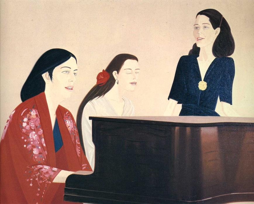 Wikioo.org - The Encyclopedia of Fine Arts - Painting, Artwork by Alex Katz - Song