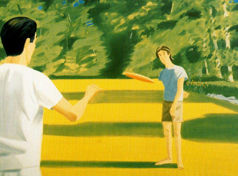 Wikioo.org - The Encyclopedia of Fine Arts - Painting, Artwork by Alex Katz - Vincent Katz (with Frisbee)
