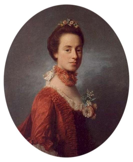 Wikioo.org - The Encyclopedia of Fine Arts - Painting, Artwork by Allan Ramsay - Mary Digges Lady Robert Manners