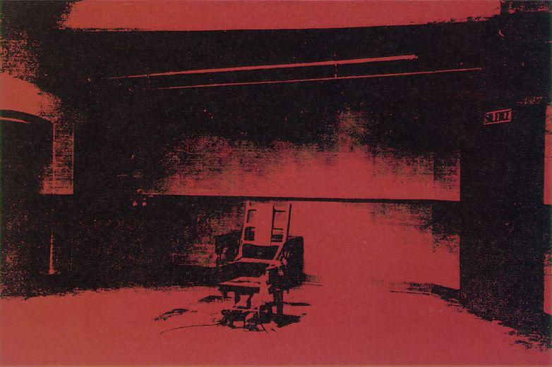 Wikioo.org - The Encyclopedia of Fine Arts - Painting, Artwork by Andy Warhol - Early electric chair