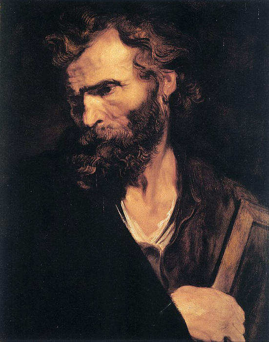 Wikioo.org - The Encyclopedia of Fine Arts - Painting, Artwork by Anthony Van Dyck - Apostle Jude
