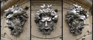 Three views of a mask