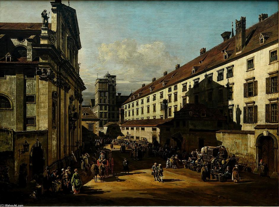 Wikioo.org - The Encyclopedia of Fine Arts - Painting, Artwork by Bernardo Bellotto - The Dominican Church in Vienna