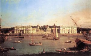 London: Greenwich Hospital from the North Bank of the Thames