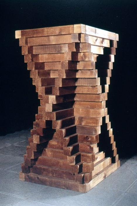 Wikioo.org - The Encyclopedia of Fine Arts - Painting, Artwork by Carl Andre - Cedar Piece