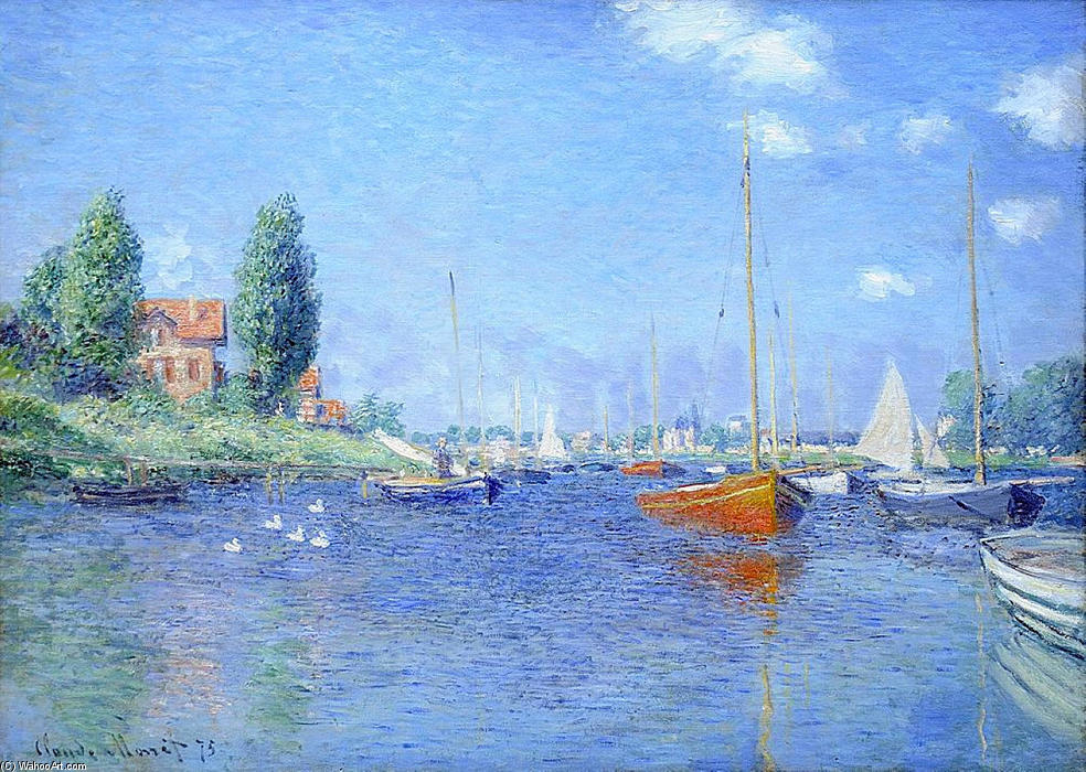 Wikioo.org - The Encyclopedia of Fine Arts - Painting, Artwork by Claude Monet - Red Boats, Argenteuil, 1875 (oil on canvas)
