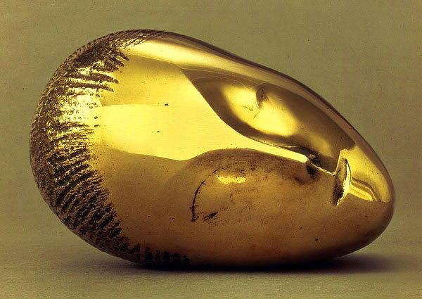 Wikioo.org – La Enciclopedia de las Bellas Artes - Pintura, Obras de arte de Constantin Brancusi - Dormir Muse II