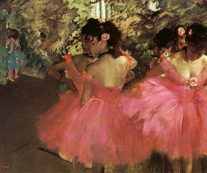 Wikioo.org - The Encyclopedia of Fine Arts - Painting, Artwork by Edgar Degas - Dancers in Pink