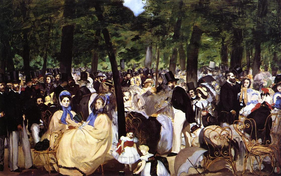 Wikioo.org - The Encyclopedia of Fine Arts - Painting, Artwork by Edouard Manet - Music in the Tuileries Garden