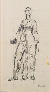 Standing draped figure