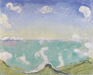 Landscape at Caux with increasing clouds