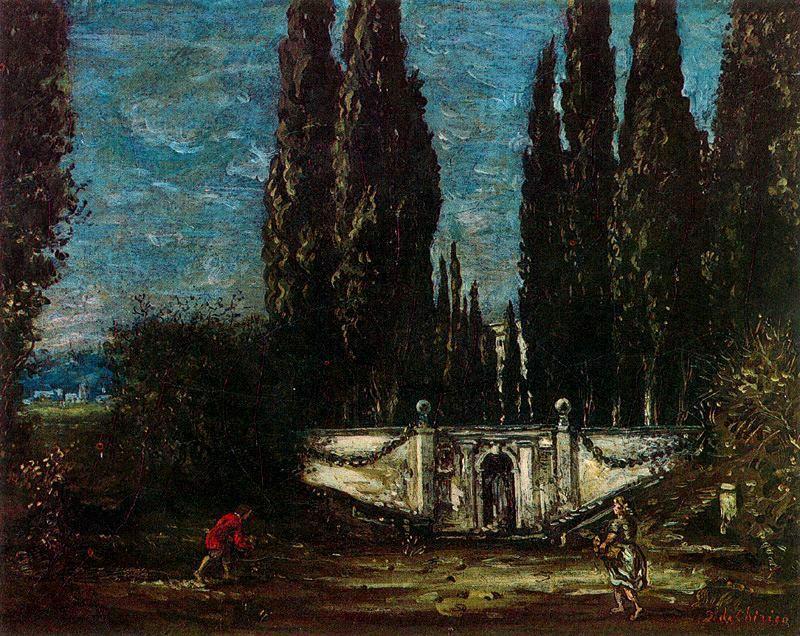 Wikioo.org - The Encyclopedia of Fine Arts - Painting, Artwork by Giorgio De Chirico - Villa Falconieri
