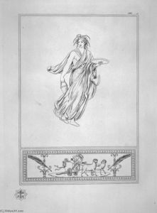 Bacchante bearing a plate and a bucket