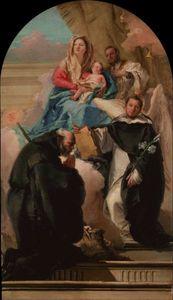 Madonna and Child with Three Saints