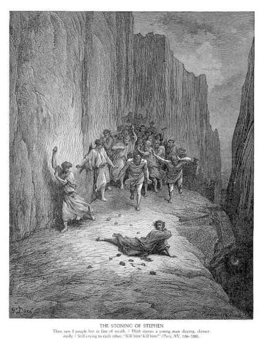 WikiOO.org - دایره المعارف هنرهای زیبا - نقاشی، آثار هنری Paul Gustave Doré - The Stoning of Stephen