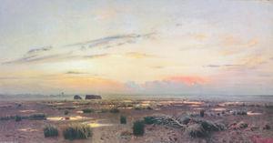 Marsh at evening