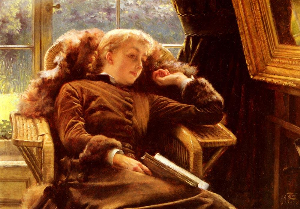 Wikioo.org - The Encyclopedia of Fine Arts - Painting, Artwork by James Jacques Joseph Tissot - Kathleen Newton in an Armchair