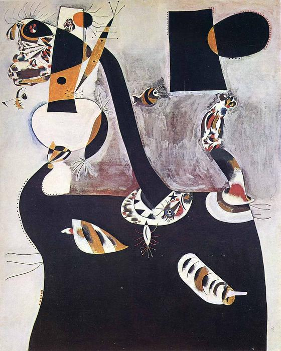Wikioo.org - The Encyclopedia of Fine Arts - Painting, Artwork by Joan Miro - Seated Woman II