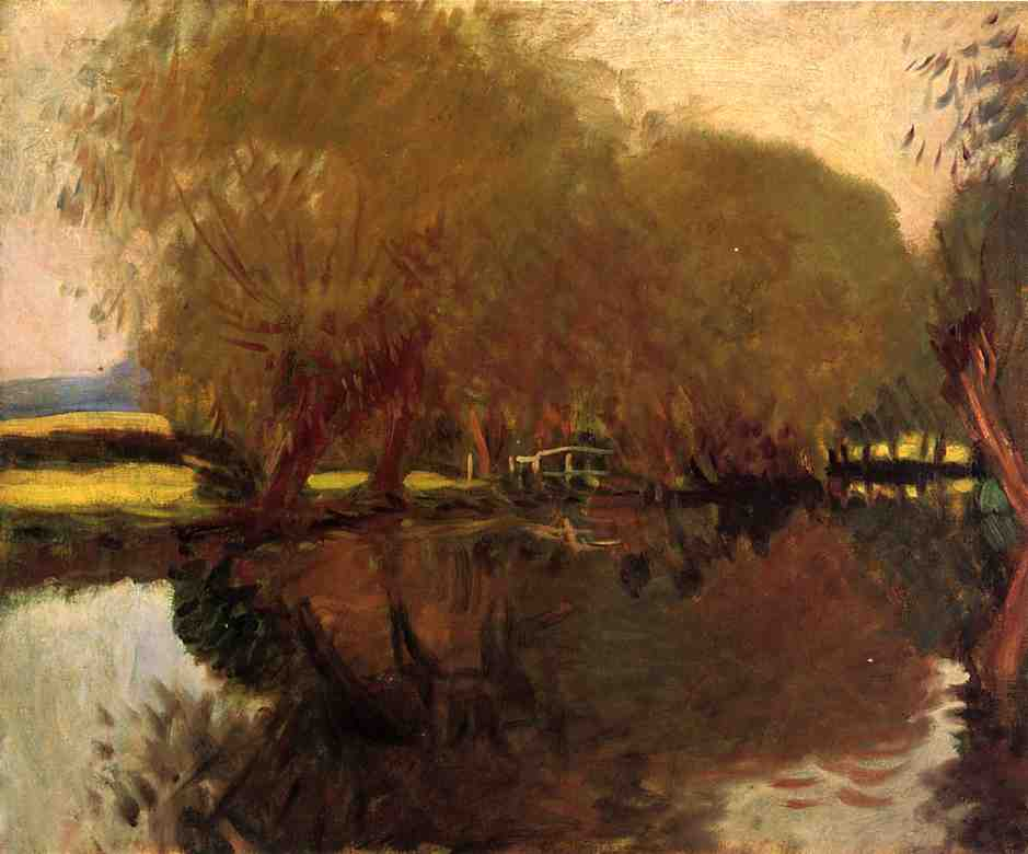Wikioo.org - The Encyclopedia of Fine Arts - Painting, Artwork by John Singer Sargent - A Backwater at Calcot Near Reading