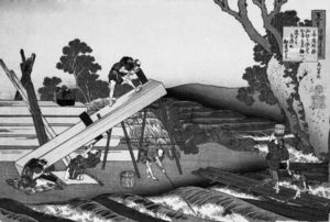 Sawyers Cutting a Log