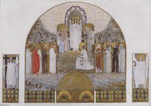 Am Steinhof Church, mosaic design for the main altar