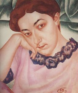 Portrait of M.F.Petrova-Vodkina