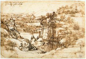 Landscape drawing for Santa Maria della Neve