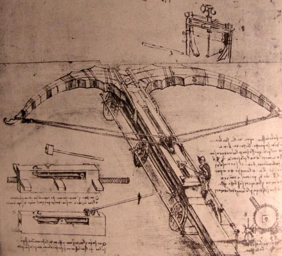 Wikioo.org - The Encyclopedia of Fine Arts - Painting, Artwork by Leonardo Da Vinci - Design for an enormous crossbow