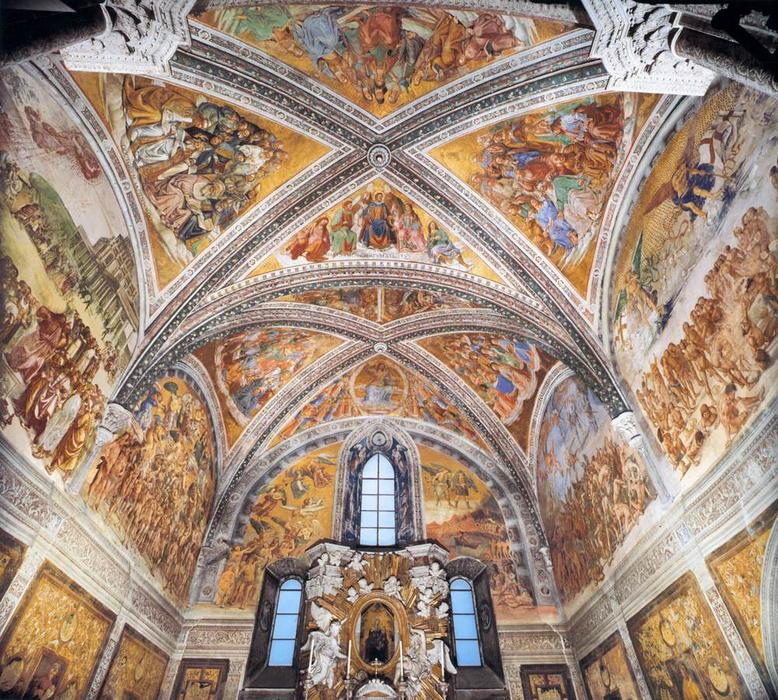 Wikioo.org - The Encyclopedia of Fine Arts - Painting, Artwork by Luca Signorelli - Frescoes in the Chapel of San Brizio