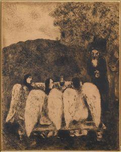 Three angels visit Abraham (Genesis, XVIII, 1 8)