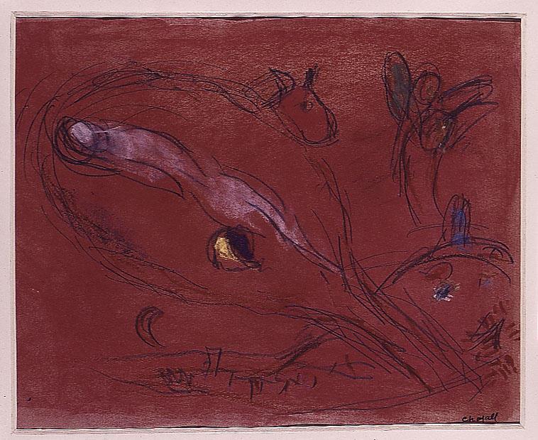 Wikioo.org - Bách khoa toàn thư về mỹ thuật - Vẽ tranh, Tác phẩm nghệ thuật Marc Chagall - Song of Songs II