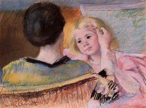 Mother combing Sara's hair