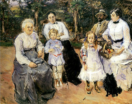 Wikioo.org - The Encyclopedia of Fine Arts - Painting, Artwork by Max Slevogt - Slevogt family in the garden of Godramstein