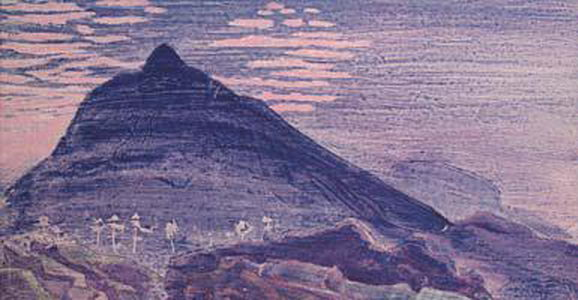 Wikioo.org - The Encyclopedia of Fine Arts - Painting, Artwork by Nicholas Roerich - Night rider