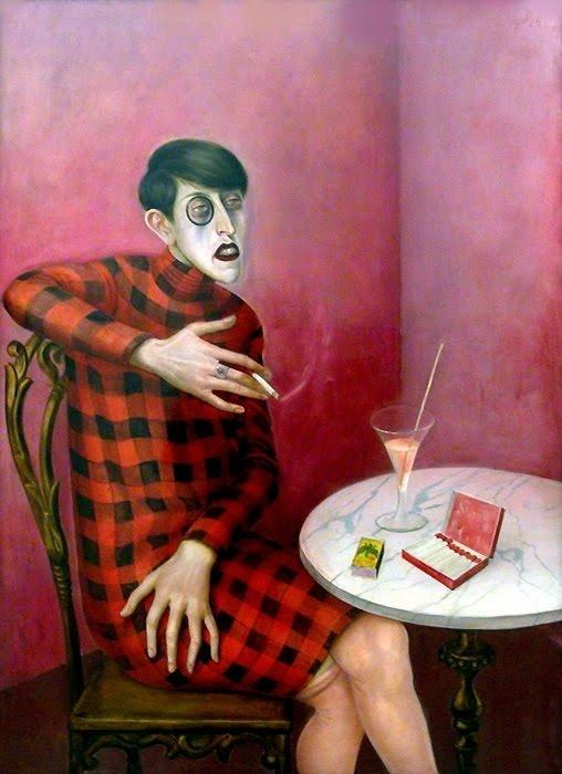 WikiOO.org - Encyclopedia of Fine Arts - Lukisan, Artwork Otto Dix - Portrait of the Journalist Sylvia Von Harden