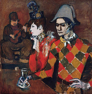 At ''Lapin Agile'' (Harlequin with Glass)