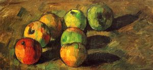 Still life with seven apples