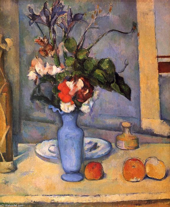 Wikioo.org - The Encyclopedia of Fine Arts - Painting, Artwork by Paul Cezanne - The Blue Vase