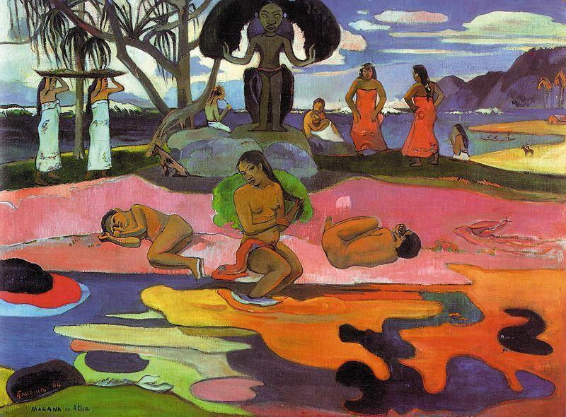 Wikioo.org - The Encyclopedia of Fine Arts - Painting, Artwork by Paul Gauguin - Day of the Gods