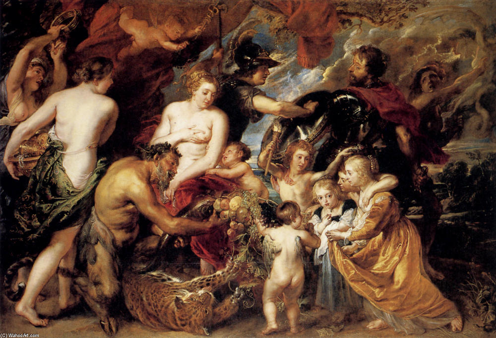 Wikioo.org - The Encyclopedia of Fine Arts - Painting, Artwork by Peter Paul Rubens - Allegory on the Blessings of Peace