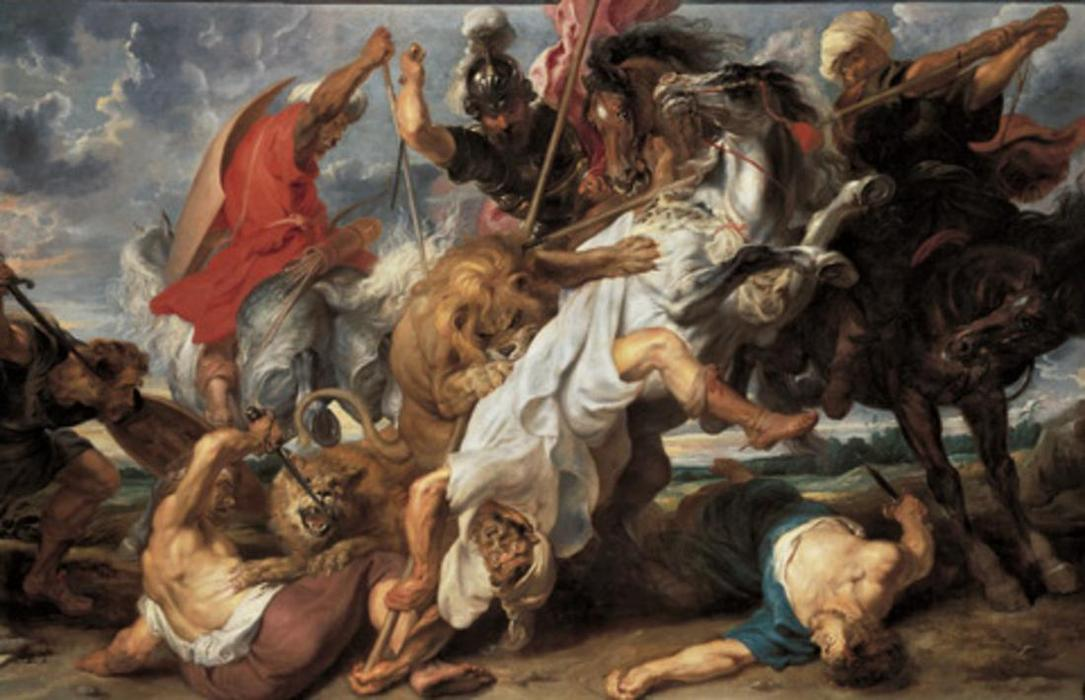 Wikioo.org - The Encyclopedia of Fine Arts - Painting, Artwork by Peter Paul Rubens - The Lion Hunt