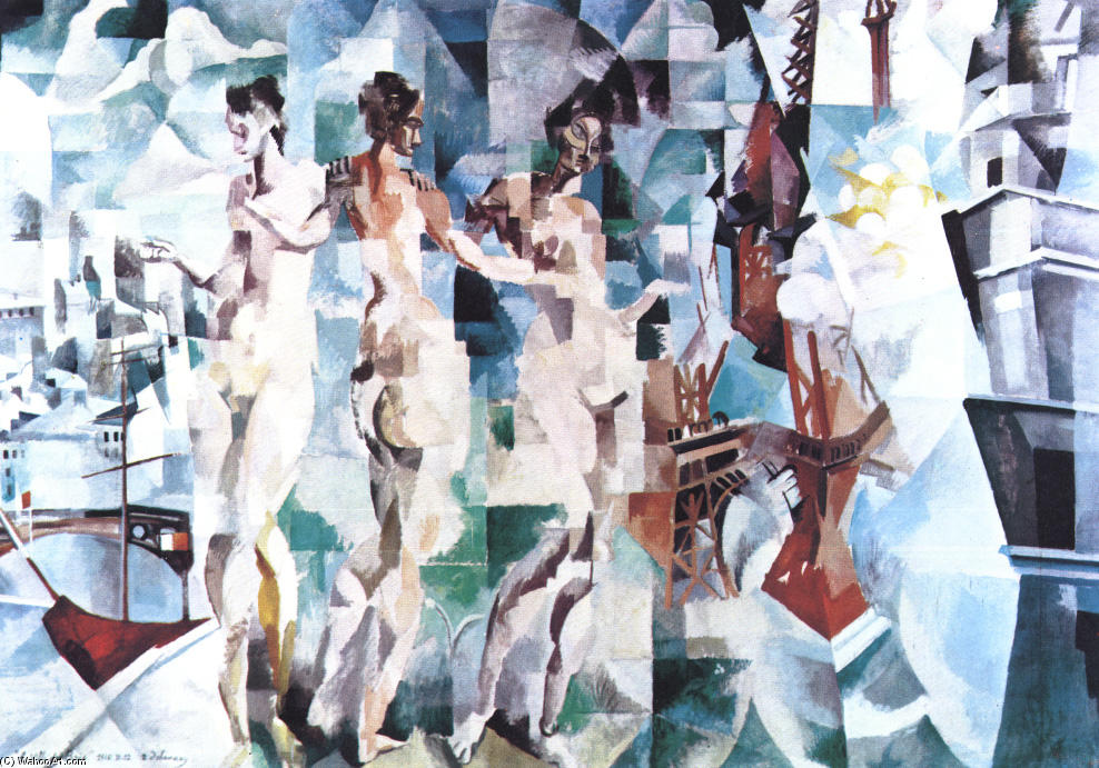 WikiOO.org - Encyclopedia of Fine Arts - Maleri, Artwork Robert Delaunay - The City of Paris