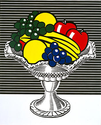 Wikioo.org - The Encyclopedia of Fine Arts - Painting, Artwork by Roy Lichtenstein - Still life with crystal bowl