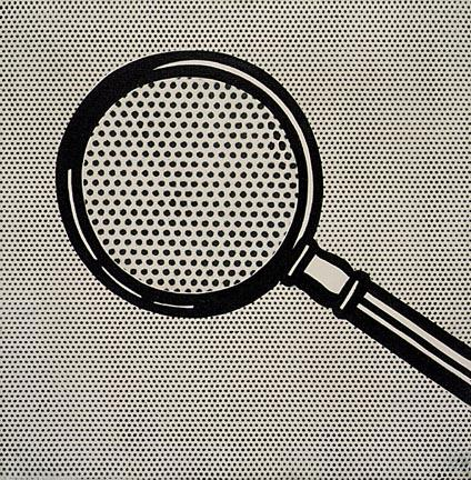 Wikioo.org - The Encyclopedia of Fine Arts - Painting, Artwork by Roy Lichtenstein - Magnifying glass