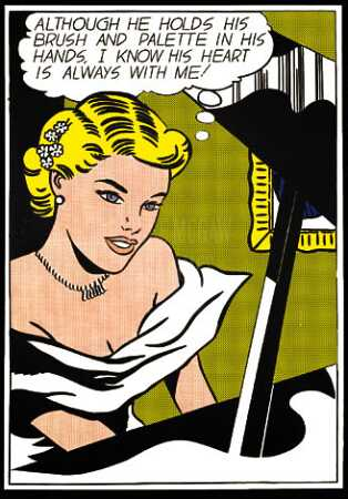 Wikioo.org - The Encyclopedia of Fine Arts - Painting, Artwork by Roy Lichtenstein - Girl at piano